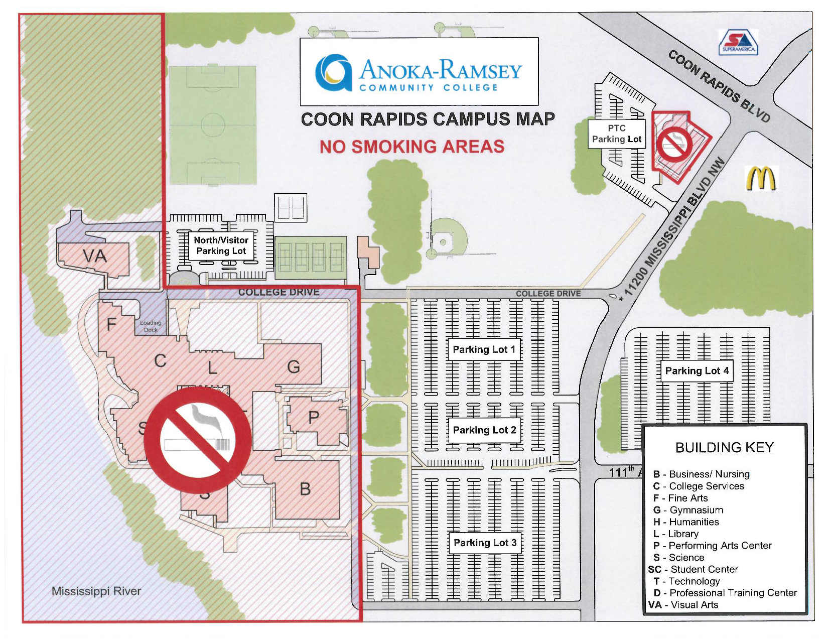 ARCC Coon Rapids Designated Smoking Areas